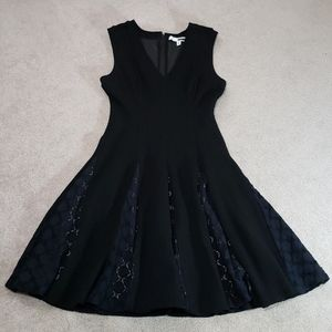 Tracy Reese A line black lace dress